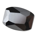 Cubic Zirconia - Jet Black - Barrel 5mm x 7mm