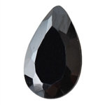 Cubic Zirconia - Jet Black - Pear 5mm x 8mm