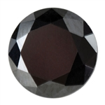 Cubic Zirconia - Jet Black - Round 2mm