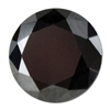 Cubic Zirconia - Jet Black - Round 8mm