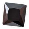 Cubic Zirconia - Jet Black - Square 4mm