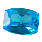 Cubic Zirconia - Blue Topaz - Barrel