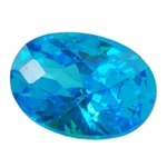 Cubic Zirconia - Blue Topaz - Oval - Checkerboard