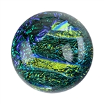 Dichroic Gems - Green Small - 6mm to 10mm - 5 gems