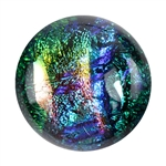 Dichroic Gems -Green - 12mm to 16mm - 3 gems