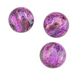 Dichroic Gems -Pink Medium - 12mm to 16mm - 3 gems