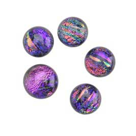 Dichroic Gems - Purple Small - 6mm to 10mm - 5 gems