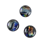 Dichroic Gems - Silver Medium - 12mm to 16mm - 3 gems