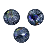 Dichroic Gems - Silver Large - 16mm to 20mm Pkg - 3
