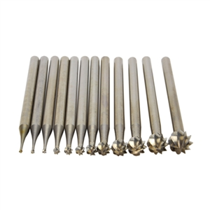 Deluxe Swiss Tungsten Vanadium Round Burs