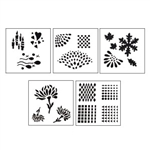 "Design Stencils for Enameling - ""Reflections"" Set of 5"