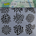 Design Stencil - Pretty Succulents