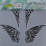 Design Stencil - Angel Wings