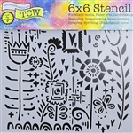 Design Stencil - Joyful Flowers