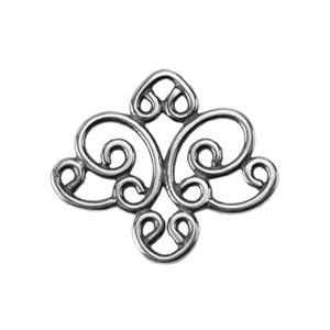 Silver Plate Connector - Filigree Medium Connector
