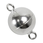 Sterling Silver Magnetic Clasp 10mm - Pkg/1