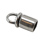 Silver Plate End Caps - Swivel 4mm