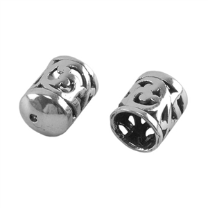 Sterling Silver End Caps - Filigree 7mm Pkg - 2