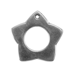 Silver Plate Charm - Star 14.2mm Pkg - 1