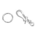 Silver Plate Hook & Eye Clasp - Locking