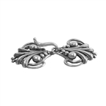 Silver Plate Hook & Eye Clasp - Florence