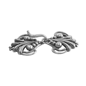 Silver Plate Hook & Eye Clasp - Florence - 1 Set
