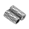 SIlver Plate Slide Ends - Double Strand 2mm