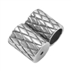 SIlver Plate Slide Ends - Double Strand 4mm