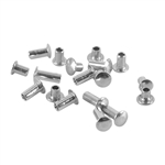 "Sterling Silver Miniature Rivet - 1/16"" Assorted Shaft Lengths Pkg - 2"