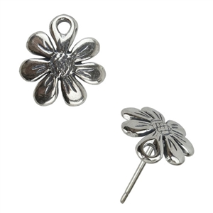 Sterling Silver Post - Daisy 10mm - 1 Pair
