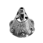 Sterling Silver Bead Cap - Canterbury Bell 8mm Pkg - 1