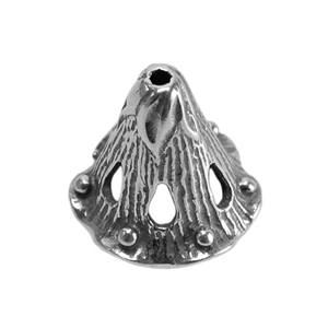 Sterling Silver Bead Cap - Canturbury Bell 6mm