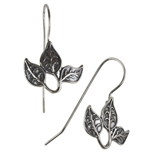 Sterling Silver French Earwires - Leaf Cluster