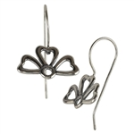 Sterling Silver French Earwires - 3 Leaf Clover