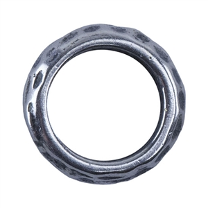Silver Plate Spacer - Hammered