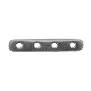 Silver Plate Bar Spacer - Quadruple Strand