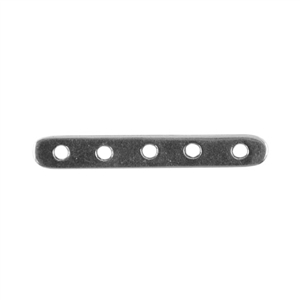 Silver Plate Bar Spacer - Quintuple Strand