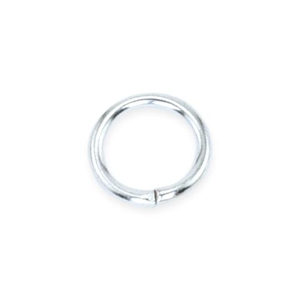Silver Plate Open Jump Rings - Round 4.4mm 20 gauge