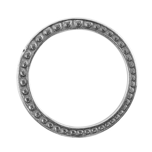 Silver Plate Jump Ring - Fancy Dotted 25mm