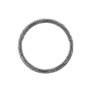 Silver Plate Jump Ring - Fancy Flourish 31mm