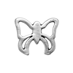 Silver Plate Jump Ring - Fancy Butterfly 10.5mm x 12.6mm
