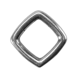 Silver Plate Jump Ring - Square 7.9mm