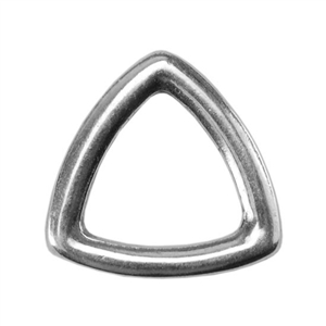 Silver Plate Jump Ring - Trillion Small 8.7mm