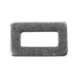 Silver Plate Jump Ring - Rectangle Small 5.5mm x 9.4mm