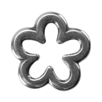 Silver Plate Jump Ring - Flower Medium 12mm