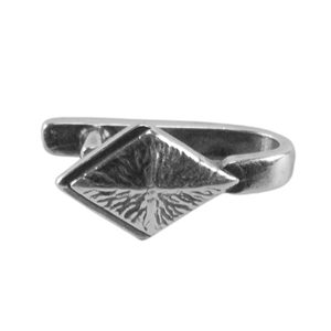 Silver Plate Pinch Bail - Diamond