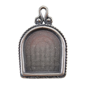 Silver Plate Pendant - Simple Frame