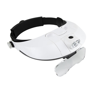 Headband Magnifier with Light and Lens Set