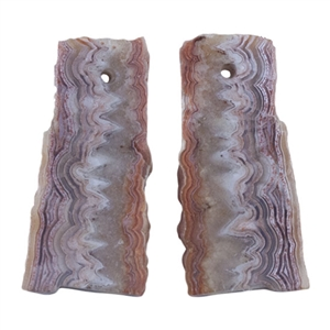 Laguna Lace Agate Gemstone - Freeform Pendant Pair 14mm x 30mm