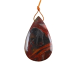 Laguna Lace Agate Gemstone - Pear Pendant 28x46mm